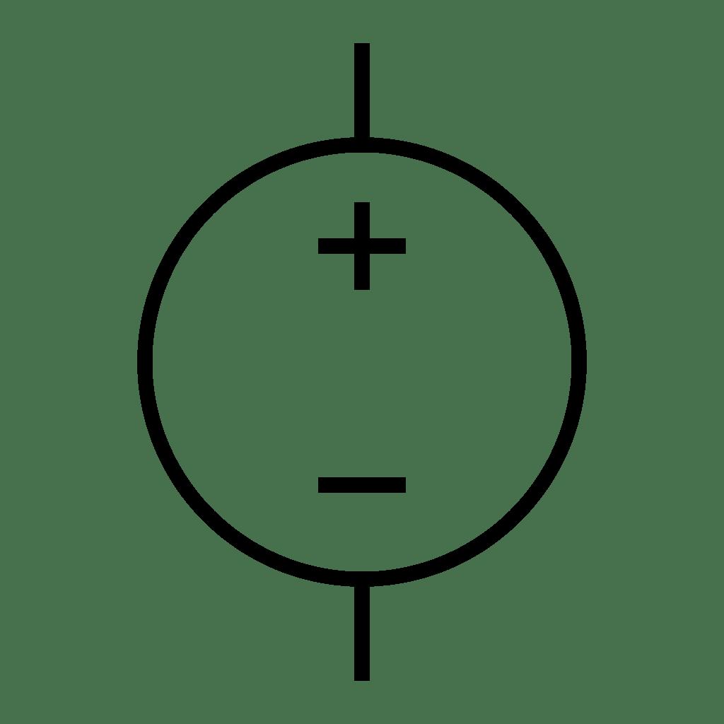 dc voltage source symbol