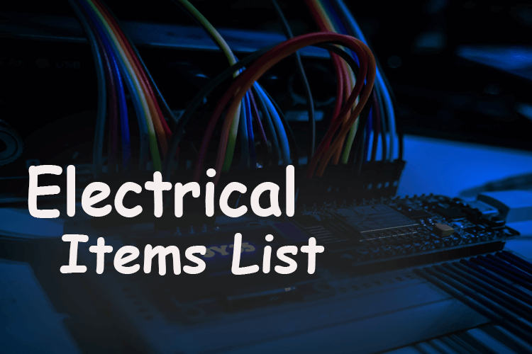 Electrical Items List (1)
