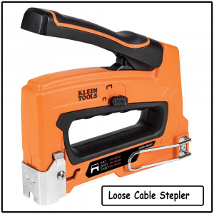 loose cable stepler